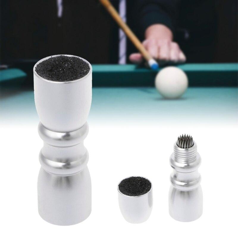 Billiard Cue Tip Tool Aluminum 4-in-1 Pool Cue Accessory Snooker Stick Shaper Scuffer Repair Tool
