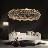 Современный творческий облако светильники светодиодный подвесной светильник Звездное личность отельный Ресторан Бар дизайнер Светлячок