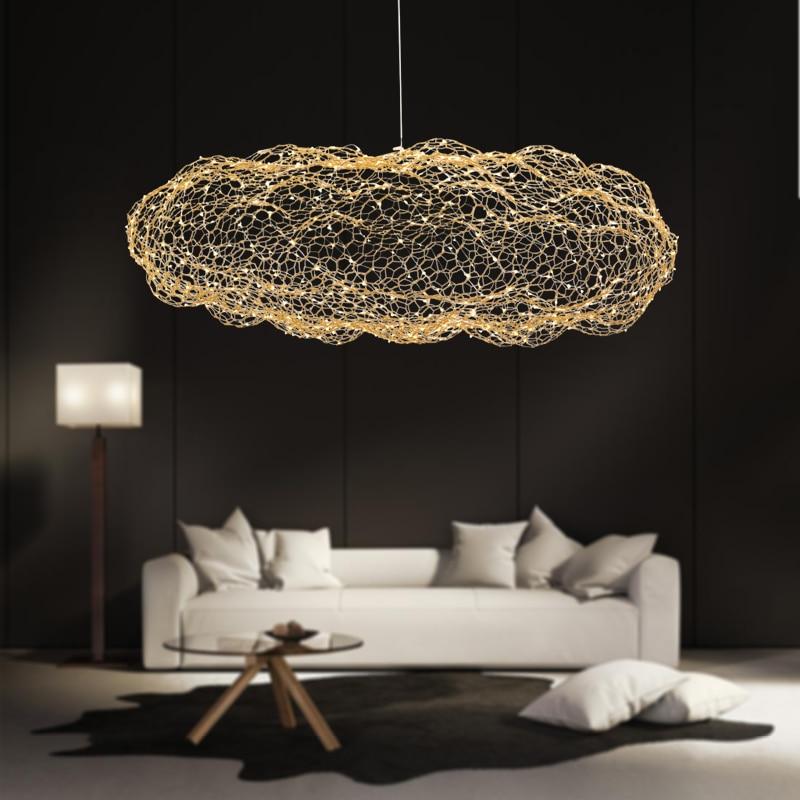 Moderna creative cloud apparecchi di luce lampada a sospensione a led stellato personalità hotel ristorante bar del progettista firefly moderne lustre