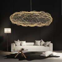Moderne créatif nuage luminaires lampe de pendentif LED étoilé personnalité hôtel restaurant bar designer luciole moderne lustre