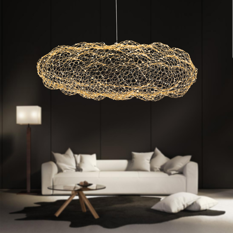 free shipping 6320d 89a9d US $139.36 48% OFF|modern creative cloud light fixtures led pendant lamp  starry personality hotel restaurant bar designer firefly moderne lustre-in  ...