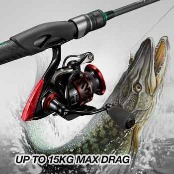 Piscifun Honor XT Fishing Reel Up to 15kg Max Drag 10+1 Bearings 5.2:1 / 6.2:1 Gear Ratios Saltwater Spinning Reel