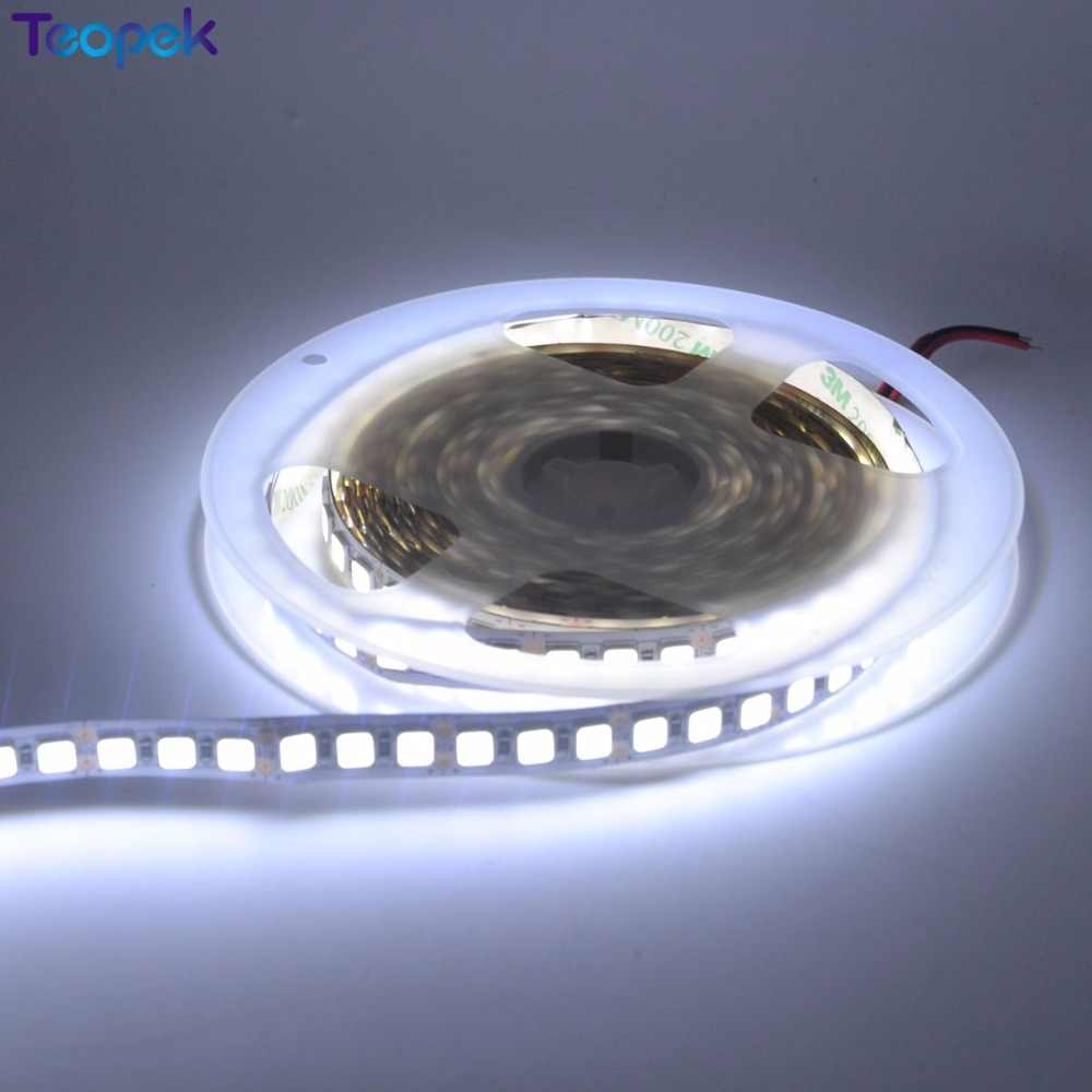 Süper Parlak 5054 LED Şerit Işık Soğuk beyaz Sıcak Beyaz Yeşil buz mavi Pembe Kırmızı 5 M 600LED DC12V 120 led/m Şerit