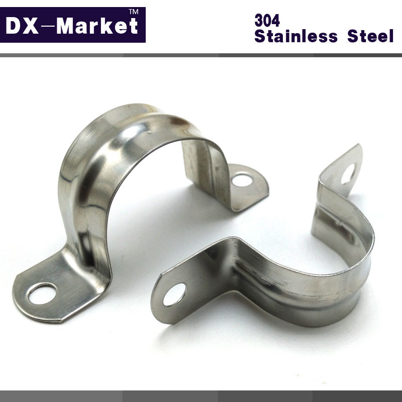 5mm-120mm , sus304 Stainless steel saddle clamp clasp , Connection buckle steel pipe clamp Water pipe fixing bracket 35mm 110mm 304 stainless steel saddle clamp antirust cable clip water pipe fixing bracket clamp