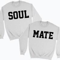 ของเขาหรือHersวิญญาณMateคู่เสื้อจัมเปอร์ของขวัญที่ดีที่สุดสำหรับ