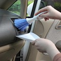 High Quality Car Vent Cleaning Brush Keyboard Brush Small Broom Dustpan Set for Car Clean Stowing Tidying Auto Accessories