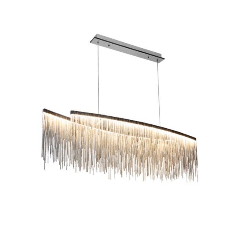Moderne Simple led Lustre lustre pour salon chambre salle à manger lampes Suspendus chaîne chrome lustres lumière fixturs