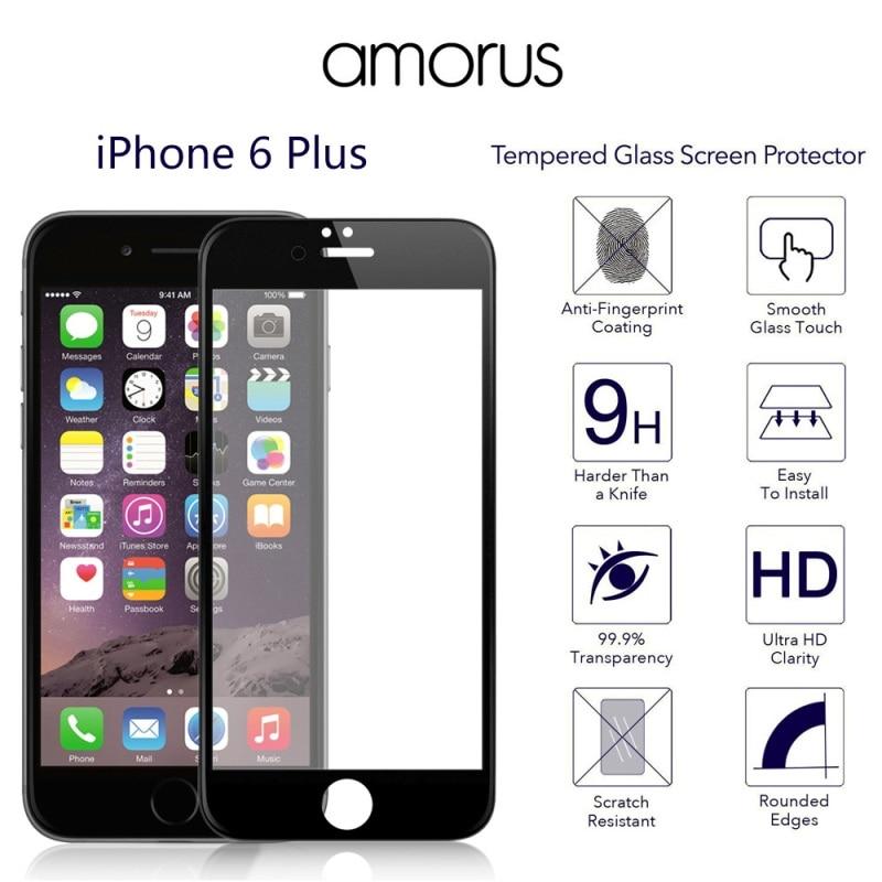 "<font><b>AMORUS</b></font> iPhone6plus <font><b>HD</b></font> 9H 3D <font><b>Curved</b></font> <font><b>Edge</b></font> <font><b>Complete</b></font> <font><b>Covering</b></font> Tempered Glass Screen Guard for iPhone 6s Plus 5.5"" Protector 6 Plus"