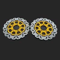 290 мм мотоциклетные спереди волнистые плавающей тормозного диска ротора для SUZUKI GSXF600 GSXF750 04 06 GSF Bandit 650 05 06 SV650 S650 03 09