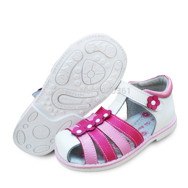 0a47ccf60a LOVELY Genuine Leather Girl Children Sandals Orthopedic shoes, Summer Kids/ child's princess Shoes