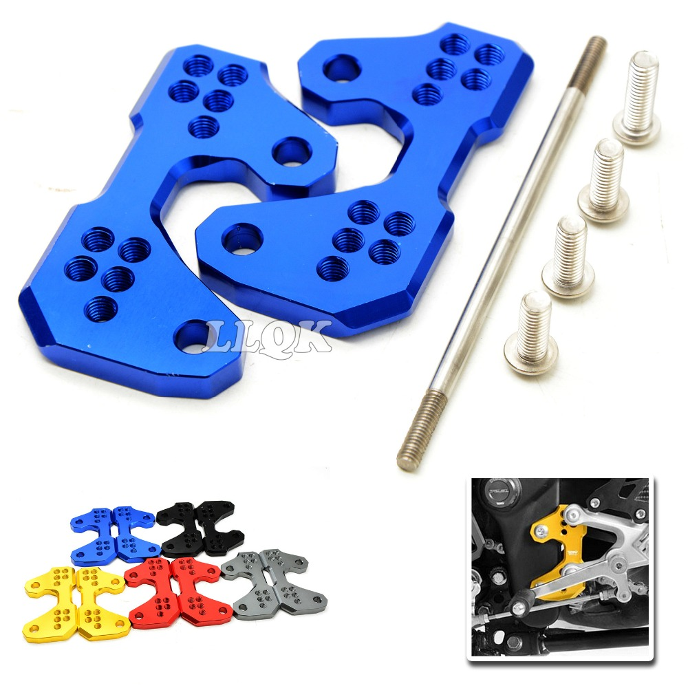 Moto CNC Aluminum Motorcycle Rearset Base Foot Pegs Rear for for yamaha YZF-R3 YZFR3 YZFR25 YZF R3 R25 2015 2016 15k 16k