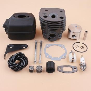 45mm Cylinder Piston Muffler Bracket Bolt Motor Kit For HUSQVARNA 50 51 55 Gas Chainsaw Engine Spare Parts 503168301, 501766605