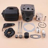 45mm silindir Piston susturucu braketi cıvata motoru kiti HUSQVARNA 50 51 55 gaz testere Motor yedek parçaları 503168301  501766605