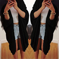 Mulheres da moda Jaqueta Casaco Cardigan Bat Camisa Causal Solto Protetor Solar Verão Novo