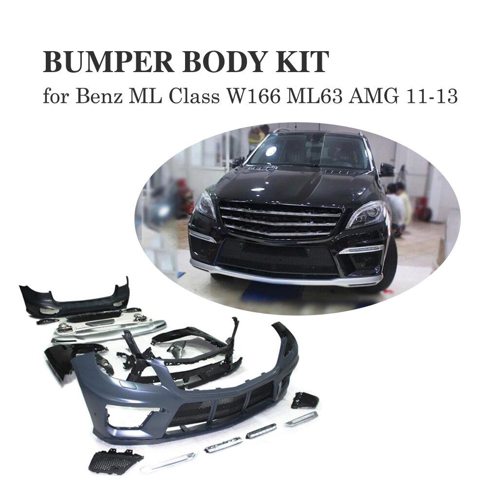 Kits de carrosserie pour mercedes-benz ML classe W166 ML63 AMG 2011 2012 2013 PP accessoires de coiffure de voiture