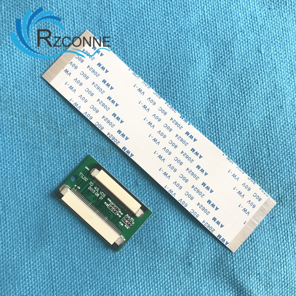 50 Pin to 40 Pin ZIF 0.5mm Connector Adapter Board For TTL LCD colorful panda фиолетовый l
