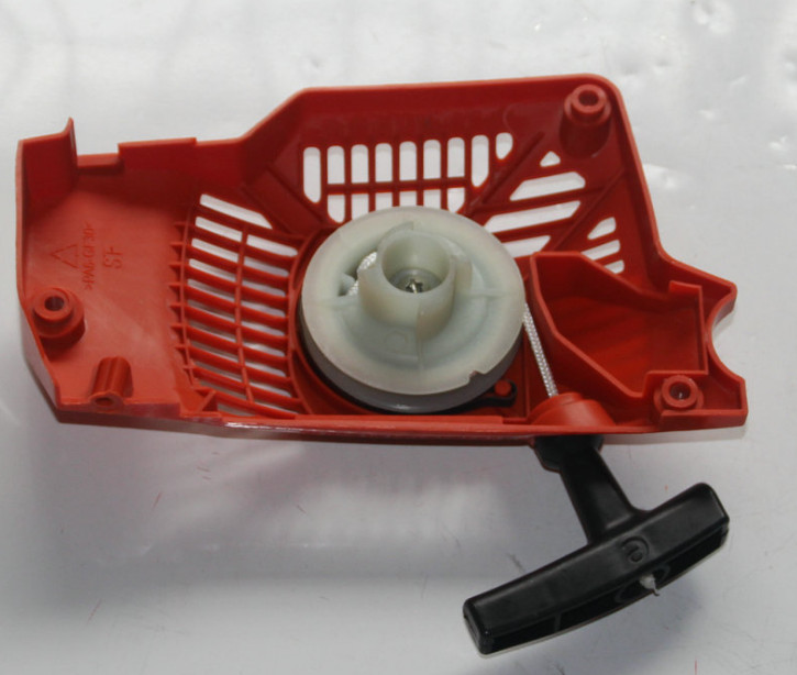 Recoil Starter pull start assembly fits Chinese Gasoline Chainsaw spare parts 3800 38CC single type genuine recoil starter assembly 4t new style for oleo mac om sparta 36 43 sparta &more trimmer brushcutter pull start 61332012r