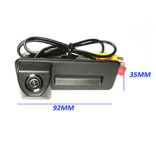 92*35mm for Skoda Octavia Fabia Superb Camera Trunk handle Switch car reverse rear view parking camera 1090K 100% Real HD CCD