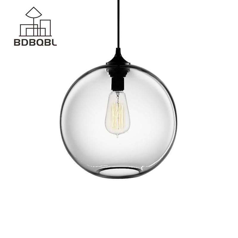 BDBQBL Glass Ball Pendant Lights  Modern Style Pendant Lights Fixtures for Kitchen Restaurant Dining/Living Room 7 Colors|glass ball pendant light|pendant light modern|ball pendant light - title=