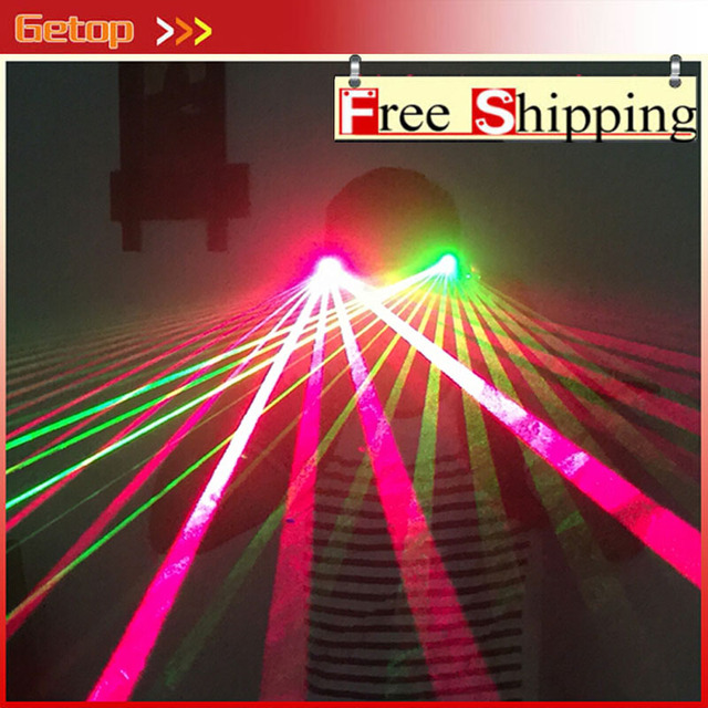ZX 3 Types Red Green Laser Glasses for Stage Show DJ Laser Glove LED Glasses Dancing Party Glasses Event & Party Supplies