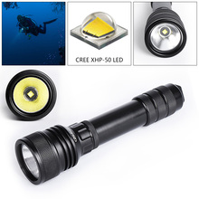 LED Diving Flashlight 2000 Lumens XHP50 Underwater 150m Waterproof Torch Light Lamp and Shock Resistant for Professional