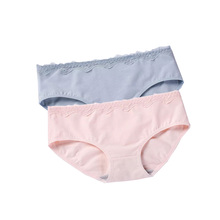DEWVKV Cotton Female Underwear Briefs Womens Sexy Lace Panties solid  Women Low-rise Hot Sale womens GBQ