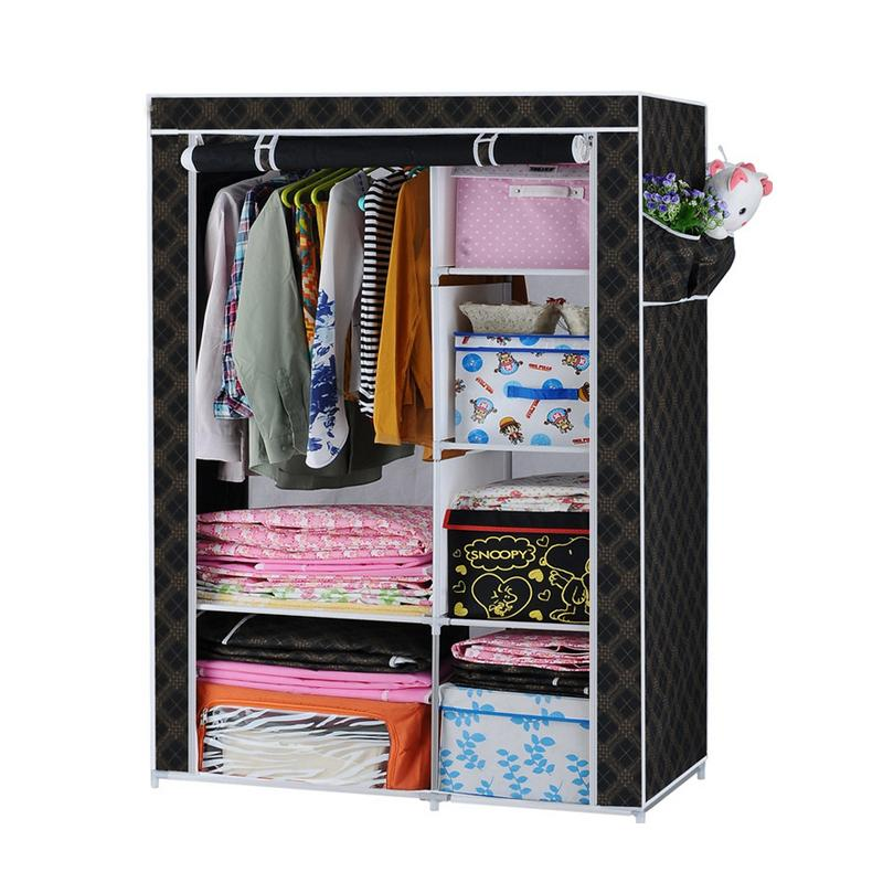 Wardrobe foldable Cloth Tube Steel DIY Simple Reinforcement Thicken for  Home Shoe Racks Storage Combination new