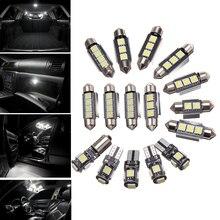 18 шт. салона светодио дный свет комплект белый лампы DC 12 В Чтение свет для 2003-2011 Volvo XC90