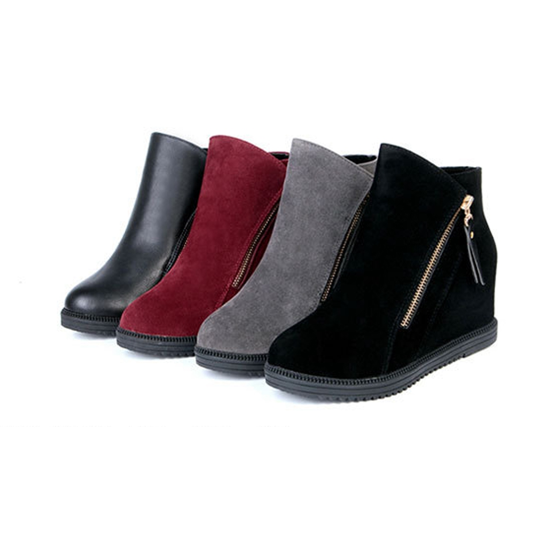 boots wedge concealed heel high top platform