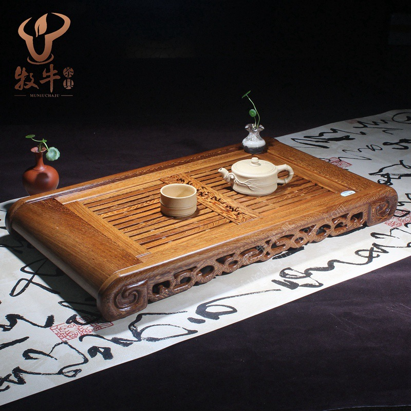 Factory direct number of high-grade wooden tray jinyumantang logo gift tea set full mixed batch factory direct ceramic tea sets italics ru ru reducing opening film kung fu tea gift boxes