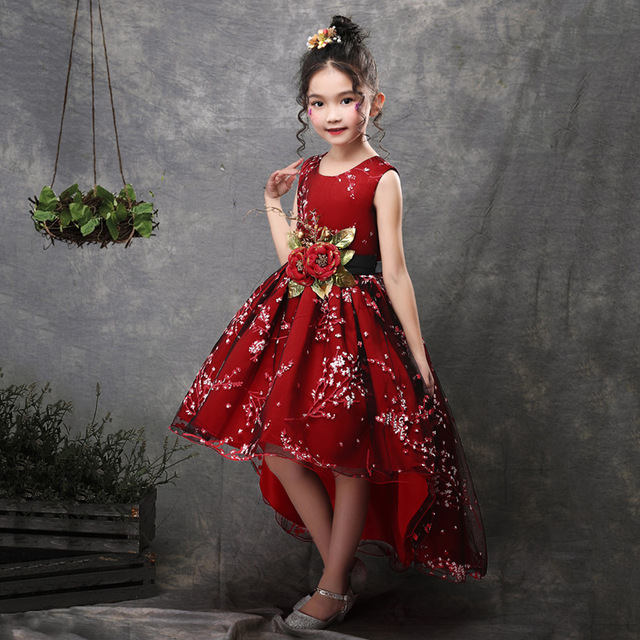 New Brand Flower Girls Dress Kids Princess Party Wedding
