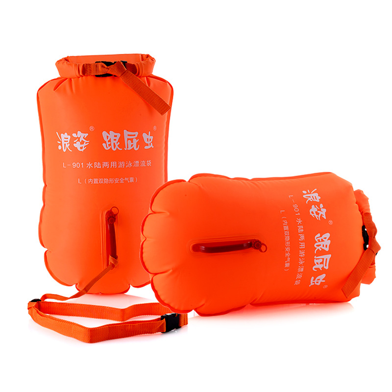 Inflatable Storage Swimming Bags Dual Airbags Floating Drifting Buoy Child Adult Lock Catch Safe Easy Learning