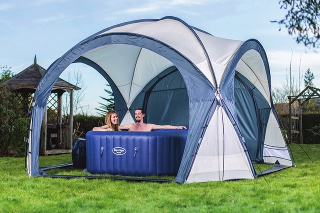 58460 Bestway 390x390x255cm SPA DOME Sunshield Anti-Rain Tent For All Bestway Spas In Winter : spa tent - afamca.org