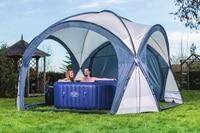 58460 Bestway 390x390x255 СМ спа купола с солнцезащитным Анти дождь палатка для всех Bestway спас в зимние и летние 12'9 x12'9 x8'4 Купол