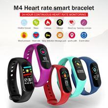 M4 Smart Bracelet Fitness Tracker Heart Rate Blood Oxygen Sleep Step Swimming Waterproof Health Sport Color Screen Band