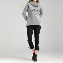 Vegan Animal Love scarf collar pullover sweater