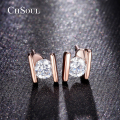 CHSOUL Elegant Simple Style Earrings With Austrian AAA+ Zincon Jewelry Stud Oorbellen Daily Life