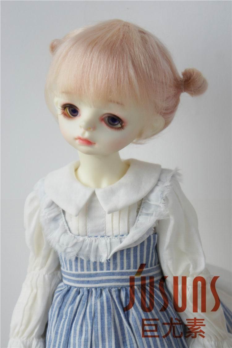 JD415 большой размер две косы BJD мохер парики в размере 8-9 дюймов 10-11 дюймов для кукол мягкие модные волосы куклы аксессуары - Цвет: 8-9inch Blend Pink