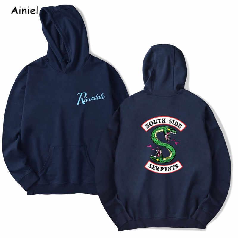 Костюм для косплея ривердейла, толстовка с капюшоном с надписью «южная сторона», свободный спортивный топ, пальто, розовый, красный, белый цвет, толстовки для мужчин и женщин