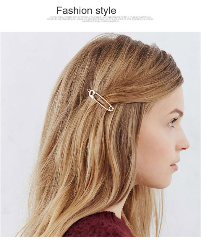 Back To Search Resultsjewelry & Accessories New Fashion Europe And The United States Accesorios Para El Pelo Simple Metal Pin Hairpin Girls Vintage Gold Color Hairpin
