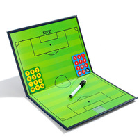 Leather folding football tactics board Magnetic and with a pen soccer tactics board