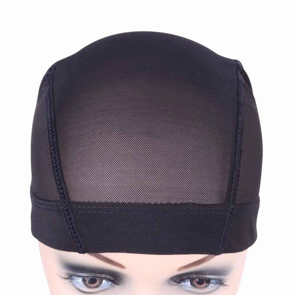 1 Pc black Dome Cornrow Pruik Caps Makkelijker Naaien In Haar Rekbaar Weven Cap Elastische Nylon Ademend Mesh Netto haarnetje