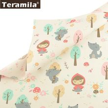 Teramila 100% Cotton Fabric Meter Cute Cartoon Desig Telas Tissu DIY Patchwork Quilts Dress Bedsheet For Baby Kids Home Textile(China)