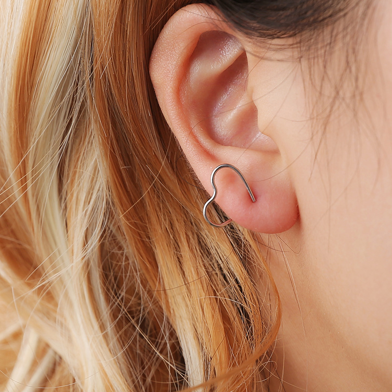 korean heart stud earrings for women studs fashion jewelry boucles d 39 oreille in Stud Earrings from Jewelry amp Accessories
