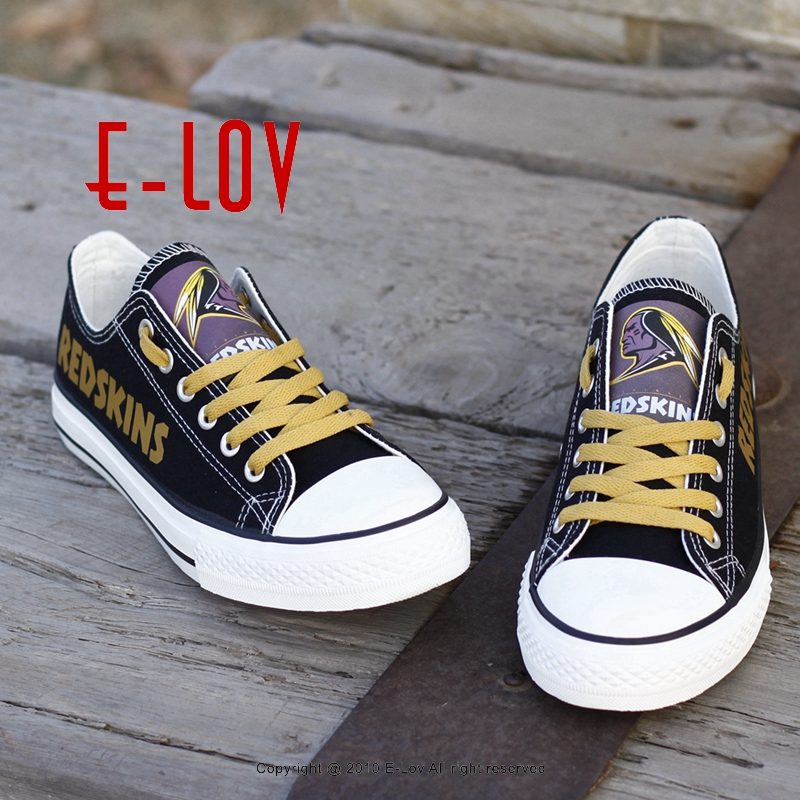 Factory Direct Sale NFL Washington Redskins Paint Canvas Shoes Draw Leisure Shoes Men Boys Print Logo Shoes Best Gift for Fans factory direct italics opening film ru ru ceramic dragons kung fu tea logo customized gift boxes