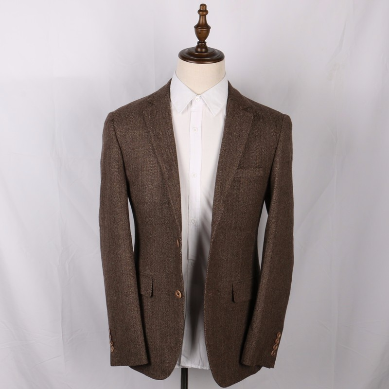 Wool-Brown-Herringbone-Suit-Jacket-Vintage-Style-Mens-Slim-Fit-Tweed-Check-Blazer-Jackets-2-Button-Long-Designer-Mens-Wedding-Wear(1)
