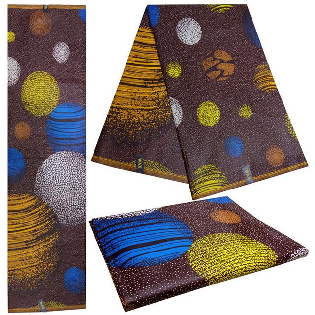 African Wax Prints Fabric 100% Cotton/Nigerian Ankara Fabric 6Yards