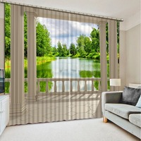 Fashion 3d curtains roman scenery Bedding room 3D Curtains High Quality Costom Modern