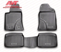 Floor mats for Toyota Avensis 2003 2009 4 pcs rubber rugs non slip rubber interior car styling accessories