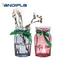 Modern Vase Hydroponics Scindapsus Glass Holder Gardening Flower Plant Pot / Office Table Decoration Crafts Vases Pen Holder